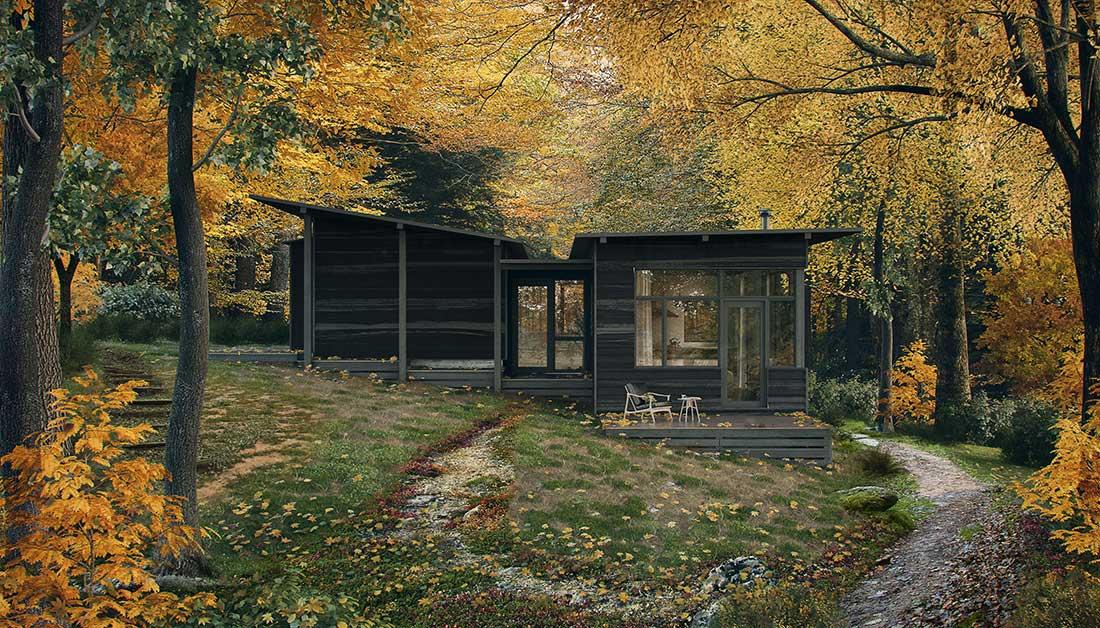 architectural-rendering-lake-cabin-big-sky-montana